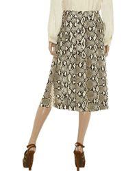 Chloé Natural Silk Python Print Skirt
