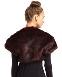 French Connection - Brown Fast Maude Faux Fur Shrug - Lyst