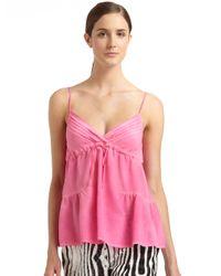 Just Cavalli Pink Silk Camisole Top