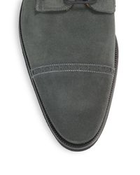 Saks Fifth Avenue | Gray Suede Oxford Shoes for Men | Lyst