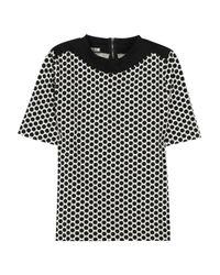 Marni White Polka Dot Print Cotton Top
