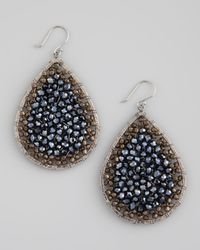 Nakamol | Blue Beadfilled Teardrop Earrings | Lyst