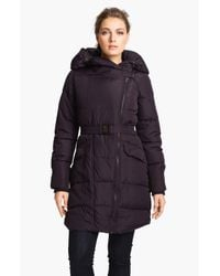 Steve Madden   Purple Asymmetrical Quilted Coat   Lyst