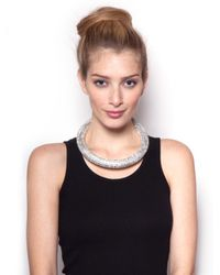 BaubleBar Metallic Crystal Bolster Necklace