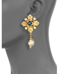 Ben-Amun - Metallic Byzantine Cross Earrings - Lyst