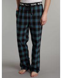Björn Borg Black Cyber Check Pyjama Pant for men