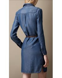Burberry Brit Blue Denim Tunic Dress