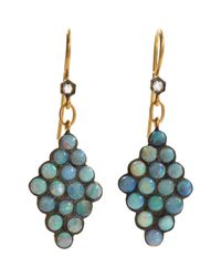 Cathy Waterman - Blue Scalloped Drop Earrings - Lyst