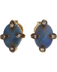 Cathy Waterman - Blue Antique Stud Earrings Size Os - Lyst