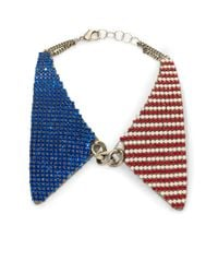 DANNIJO - Red Lincoln Collar Necklace - Lyst