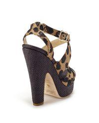 Jerome C. Rousseau - Multicolor Leopard Woven Strappy Sandals - Lyst
