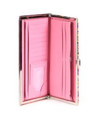 Lodis Pink Kaleidoscope Diva Clutch Wallet