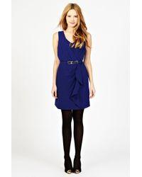 Oasis Blue Sexy V Neck Dress