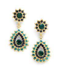 Sparkling Sage - Blue Starburst Peacock Earrings - Lyst