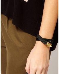 Whistles Metallic Lana Glitter Cuff Bracelet