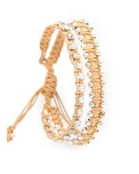 Mango | Metallic Touch Double Braided Bracelet | Lyst