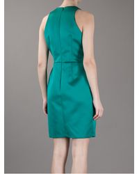 MSGM - Green Sleeveless Dress - Lyst