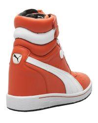 PUMA Orange Sneaker Wedge