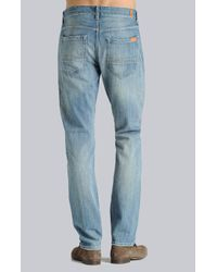 7 For All Mankind Blue Jakson with Leather Label Spring Hill for men