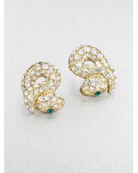 ABS By Allen Schwartz - Metallic Sparkle Snake Earrings - Lyst