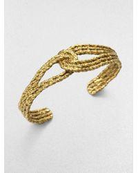Aurelie Bidermann - Metallic Lasso Bracelet - Lyst