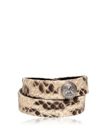 Balmain - Natural Python Metal Button Bracelet for Men - Lyst