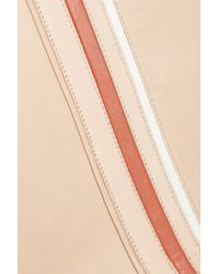 Chloé Pink Piped Leather Mini Skirt