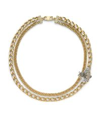 Judith Leiber - Metallic Bumble Bee Swarovski Crystal Necklace - Lyst