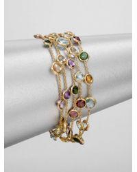 Marco Bicego - Metallic Semi Precious Multi Stone Five Strand 18k Gold Bracelet - Lyst