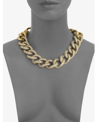 St. John | Metallic Antique Chain Necklace | Lyst