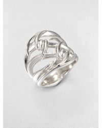 Stephen Webster | Metallic Sterling Silver Double Barb Ring | Lyst