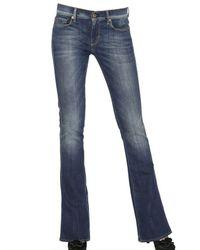 7 For All Mankind Blue Kaylie Slim Boot Cut Stretch Denim Jeans