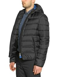 Add Black Lightweight Nylon Double Layered Jacket for men