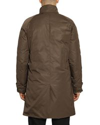 Add Brown Creased Nylon Gabardine Quilted Jacket for men