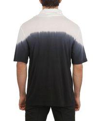 Ann Demeulemeester Black Degradé Gathered Collar Jersey Tshirt for men