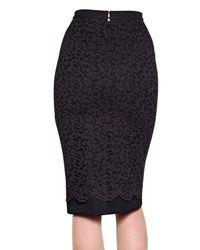 Antonio Marras Black Ponyskin Lace Wool Ottoman Skirt