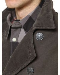 Armani Jeans Brown Washed Cotton Moleskin Coat for men