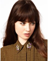 ASOS - Multicolor Rosetti Collar Pins - Lyst