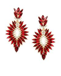 BaubleBar - Red Ruby Burst Drops - Lyst