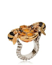 Delfina Delettrez | Metallic Bees Cocktail Ring | Lyst
