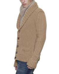 Dolce & Gabbana Brown Wool Ribbed Cardigan Sweater for men