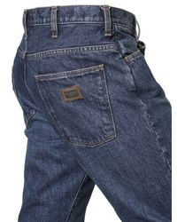 Dolce & Gabbana Blue High Rise Regular Fit Denim Jeans for men