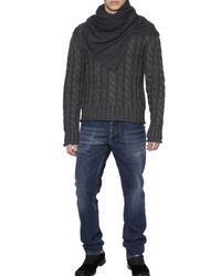 Dolce & Gabbana Gray Cable Knit Sweater for men