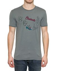 Dolce & Gabbana Gray Cinderella Jersey T-shirt for men