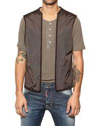 DSquared² Green Detachable Vest Tech Canvas Parka for men