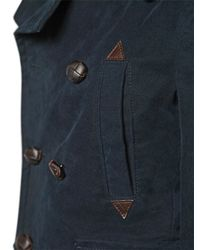 DSquared² Blue Heavy Cotton Gabardine Casual Jacket for men