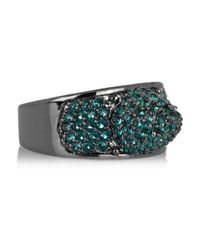Eddie Borgo | Metallic Gunmetal Plated Pavé Crystal Cone Ring | Lyst