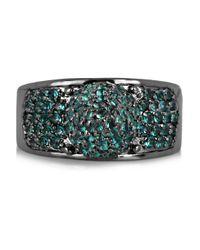 Eddie Borgo   Metallic Gunmetal Plated Pavé Crystal Cone Ring   Lyst