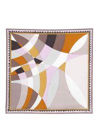 Emilio Pucci Purple Printed Silk Scarf