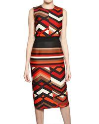 Giambattista Valli | Multicolor Printed Wool Silk Gauze Dress | Lyst